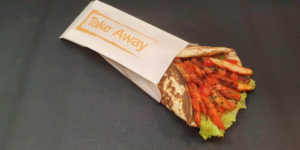 Paprika – Take away indien – Naan bread sandwich